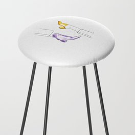 Watercolor Shoes Counter Stool