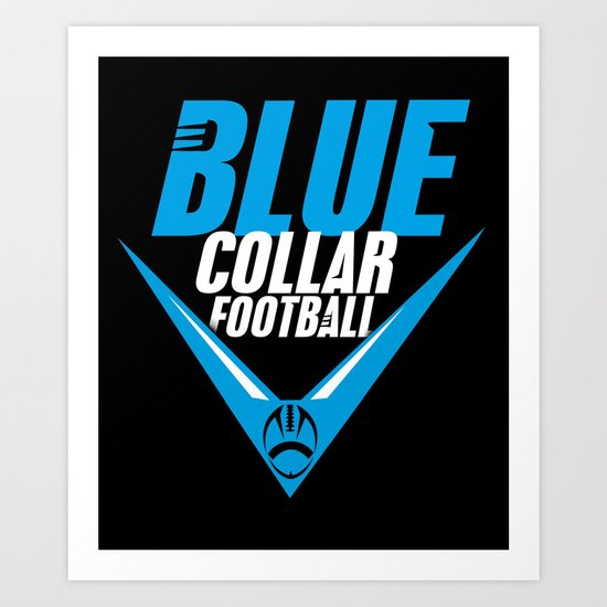 Blue Collar Art Print