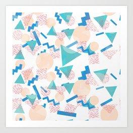 90's Pastel Geometric Pattern Kunstdrucke