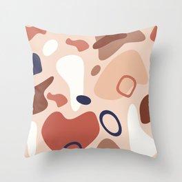 Modern terrazzo terracotta Throw Pillow