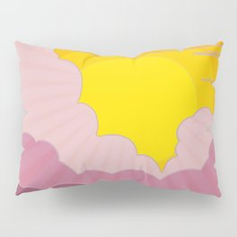 Sixties Inspired Psychedelic Sunrise Surprise Pillow Sham
