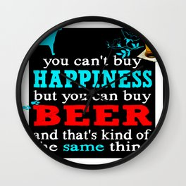 BEER AND HAPPINESS Wall Clock