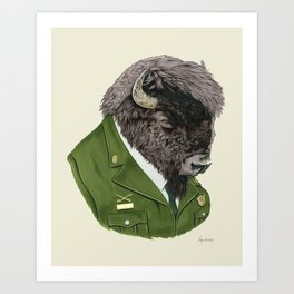 Bison art print by Ryan Berkley Art Print