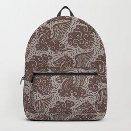 Pegasus Pattern Beige Brown Neutrals Backpack
