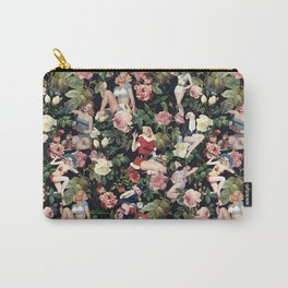 Floral and Pin Up Girls Pattern Carry-All Pouch