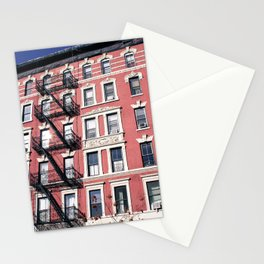 Lower East Side Red Stationery Cards