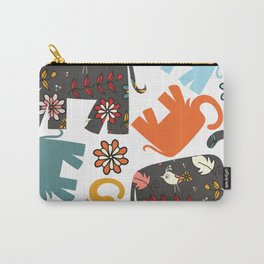 Elephants pattern #4SD Carry-All Pouch