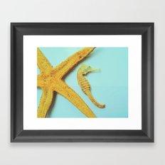 My little bit of ocean Framed Art Print