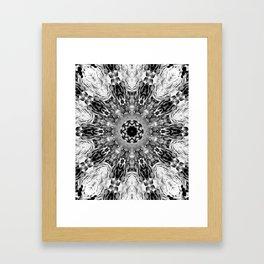 Blac White Mandala Abstract Framed Art Print