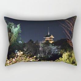 Night Temple in Kyoto Rectangular Pillow