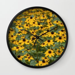 Field of Brown Eyed Susans Wall Clock