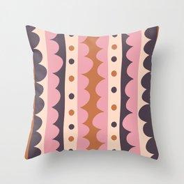 Rick Rack Candy Throw Pillow