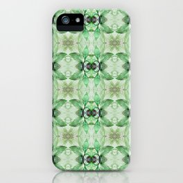 Green, taupe and beige Pattern 810 iPhone Case