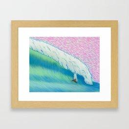 MOONMAN X BIGWAVE 2.1 Framed Art Print