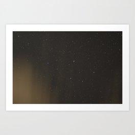 Stars Over Campfire Art Print