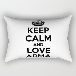 Keep calm and love ARMA Rectangular Pillow