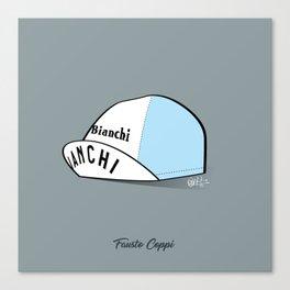 Grimpeur - Coppi cap Canvas Print