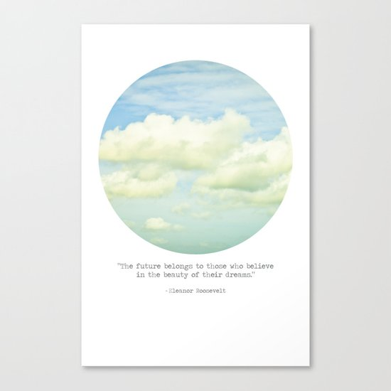 The beauty of the dreams Canvas Print