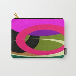 Abstract Composition in Green and Fuchsia Carry-All Pouch