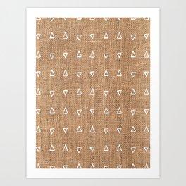 Triangle Mud Cloth Pattern Bastet Weave  Art Print