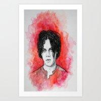 jack white Art Prints featuring Jack White by Sosha Krosley
