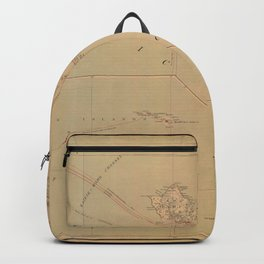 Hawaii Postal Route Map 1908 Backpack
