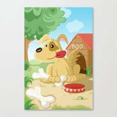 Dog from the Land of the Three Canvas Print