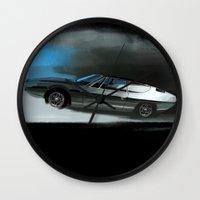 lamborghini Wall Clocks featuring Lamborghini Espada by Vadim Artemyev
