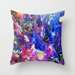 Fluid Color Throw Pillow