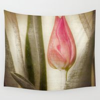 tulip Wall Tapestries featuring TULIP by Christina Lynn Williams
