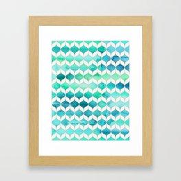 Ocean Rhythms and Mermaid's Tails Framed Art Print