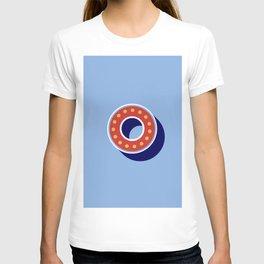 Letter O - retro alphabet T-shirt