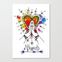 Heart Opening Namaste Canvas Print