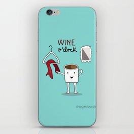 Wine O'clock iPhone Skin