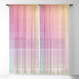 "Pastel Genuine Geometric ""Troll"" Sheer Curtain"