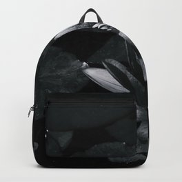 Black and white lily Backpack