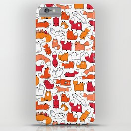 Foxy Foxes Doodle iPhone Case