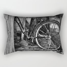 Bicycle in an Abandoned Barn Rectangular Pillow