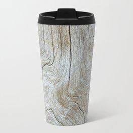Wood Grain Travel Mug