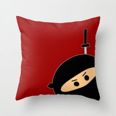 Ninja at Sunset Throw Pillow