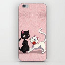 Kitty Flower iPhone Skin