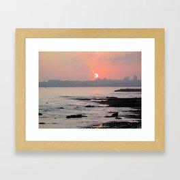 Cascais Sunset Framed Art Print