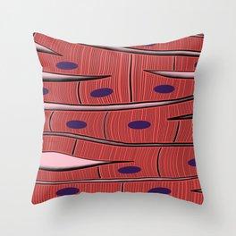 Cardiac Muscle Throw Pillow