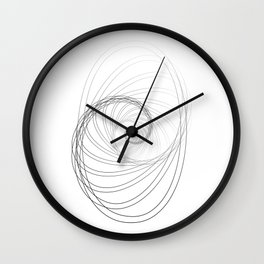 """""""Fly Collection"""" - Abstract Minimal Letter O Print Wall Clock"""