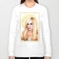 versace Long Sleeve T-shirts featuring Donatella Versace by Denda Reloaded