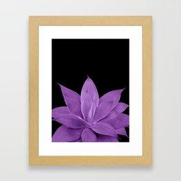 Purple Agave #1 #tropical #decor #art #society6 Framed Art Print