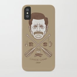 Ron Swanson Canoe Camp (dirty brown variant) iPhone Case