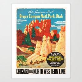 Vintage poster - Bryce Canyon Art Print