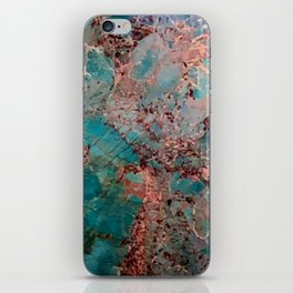 Marble Turquoise Blue iPhone Skin