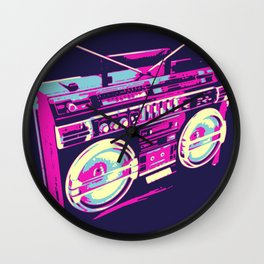 Boombox Pop Art Wall Clock